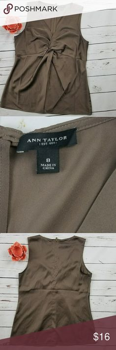 """Ann Taylor Twist Knot Top- Size 8 Gorgeous Ann Taylor Twist Knot blouse Gently Pre-loved . Very good condition no holes, tears, rips, or stains. Well made Measurements: Underarm to underarm - 20"""" Length- 25.5"""" No Trades- Smoke free home. Bundles are accepted for big discount leave a comment below. Make us an offer.  Fast Shipping- Will ship same day or next day depending on the time item was purchased.  Thank you for visiting our closet hope to see you again soon Ann Taylor Tops Blouses"""