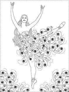 194 Beste Afbeeldingen Van Ballarina Danseres Coloring Books