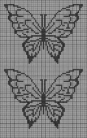 Resultado de imagen para trilhos de croche com borboletas