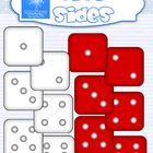 FREE This set includes line art and colored images for dice sides (1-6)  These graphics have 300 dpi resolution.  All my clipart sets are for FREE OR CO...