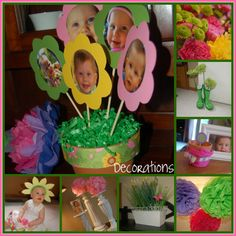 little girl flower birthday party ideas | Very cute, and VERY creative!