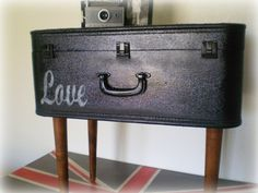 LOVE this OneofaKind SUITCASE Table by kuntrytreasures on Etsy, $145.00