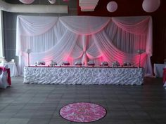 Online Shop Pure White Wedding Backdrop with beautiful swags stage drape Curtain For wedding decoration x Curtains For Sale, Drapes Curtains, Reception Decorations, Event Decor, Wedding Stage Backdrop, Sweetheart Table, Wedding Frames, Backdrops For Parties, Creative Decor