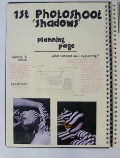 AS Photography, A3 Cream Sketchbook, Planning the Photoshoot, ESA Theme Relationships, Thomas Rotherham College, 2014-15