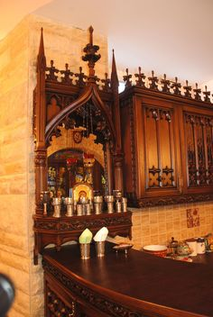 12 | Кухня Готика Medieval Furniture, Gothic Furniture, Antique Furniture, Gothic Interior, Gothic Home Decor, Interior Design, Gothic Castle, Gothic House, Victorian Style Homes
