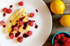 Passover-Friendly Recipes That Are Delicious All Year Round | Lemon Cream Cheese Gluten-Free Crepes with Raspberry Sauce
