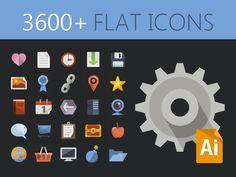 3600+ Free Flat Icons