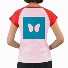 Little+Butterfly+Illustrations+Animals+Blue+White+Fly+Women's+Cap+Sleeve+T-Shirt