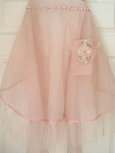 Lovely Shabby Chic Apron.  Super cute and all, but I'm not sure that I'd cook in it.. I'd probably just wear it. lol