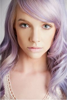 lavender hair. I wish I could pull this off... I think in a past life I was a blonde! Hahahha.
