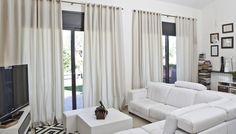 Salón con cortinas