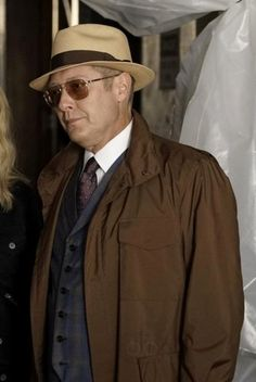 Raymond Reddington wearing  Stetson The Broadway by Biltmore, Oliver Peoples Victory  Sunglasses, Loro Piana Windmate Storm System Jacket
