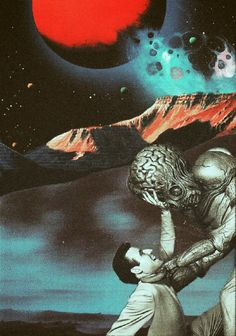 Ayham jabr - collage - art - space - planets - alien