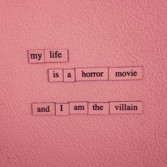my life is a horror movie and i am the villain Moira Burton, Storyboard, No Ordinary Girl, Mara Dyer, Sayaka Miki, Himiko Toga, Luanna, All I Ever Wanted, Pink Aesthetic