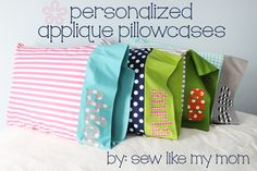 Project Design Team Wednesday ~ Personalized Appliqué Pillowcases