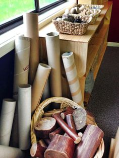 """Construction materials at Sebastopol West Kindergarten, image shared by Yarn Strong Sista ("""",_ Play Based Learning, Learning Spaces, Learning Centers, Early Learning, Play Spaces, Reggio Classroom, Preschool Classroom, Preschool Activities, Reggio Emilia"""