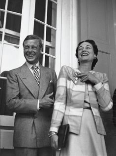 "King Edward VIII ""David"" (Edward Albert Christian George Andrew Patrick David) (1894-1972) Prince of Wales UK & wife Wallis Simpson (Bessie Wallis Warfield-Spencer-Simpson) (1896-1986) USA, Duke & Duchess of Windsor."