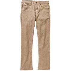 Baresi Boys' Stretch Twill Skinny Pants, Size: 12, Beige