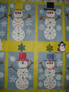 Snowflake Snowmen and Acrostic Winter Poems are fun in January.