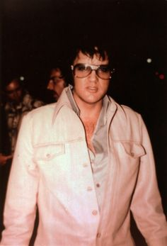 August 7, 1975 outside of the Cross Town Theatre in Memphis at 1 a.m.