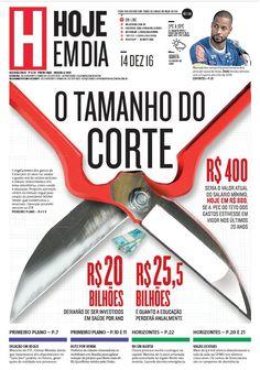 Capa do dia 14/12/2016 #HojeEmDia #Jornal #Notícias #News #Newspaper