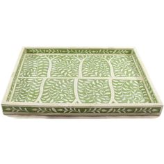 R806 – A Botanical Olive Green Bone Inlay Decorative Tray Roomattic 2 Olive  Green 6451a889684