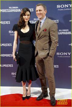 Daniel Craig: Madrid 'Dragon Tattoo' Premiere with Rachel Weisz!