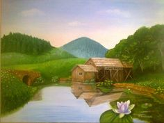 Original oil painting Summer Landscape by InspirationSource, $480.00