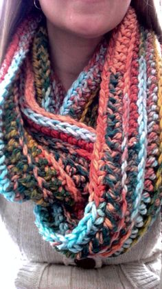 AMY Tiger Eyes Chunky Infinity Scarf by MaggiesScarves on Etsy, $30.00