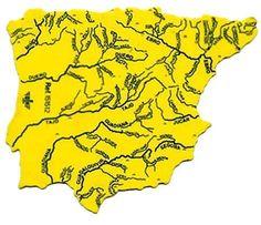 REGLA MAPA DE LOS RIOS ESPAÑOLES