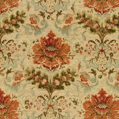Brunschwig & Fils Windsor Damask Cotton & Linen Print Copper On Sand Fabric Drapery Fabric, Fabric Decor, Linen Fabric, Cotton Linen, Fabric Design, Yellow Fabric, Floral Fabric, House Paint Exterior, Fabric Houses