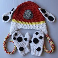 Accessories Archives - Page 4 of 6 - Traversebaycrochet.com Crochet Baby Mittens, Baby Blanket Crochet, Crochet Hats, Toddler Mittens, Crochet Toddler, Crochet For Kids, Free Crochet, Crochet Pattern, Paw Patrol Hat