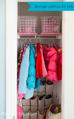 Curb the chaos of coats and shoes: Create a Kid Central Hub using these great storage ideas.