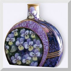 Purple Pansy's Bud Vase