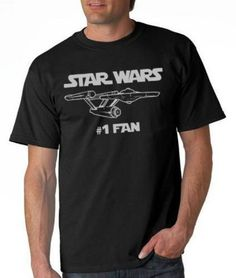 "Are You Really The #1 Star Wars Fan? [T-Shirt] -- I think they'd better think it out again!!  Totally laughing at a comment at the previous pin: ""Tim Wiltshire lol....too boldly go where no ""Star Wars"" fan has gone before."""