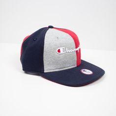 07295da9084 Champion Reverse Weave Color Blocked Script Baseball Hat