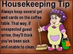 Funny Housekeeping Tip funny quotes quote jokes lol funny quote funny quotes funny sayings humor cleaning