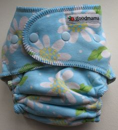 Blue Daisy Goodmama One-Size Fitted Diaper