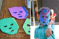 Modern Transformers Party: DIY Robot Mask Activity for Kids - From Me, With Love