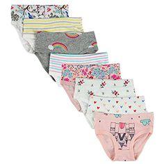 taglie 92-170 cm Confezione da 10 di mutande da bambina da 2 a 16 anni diversi motivi in cotone PiriModa