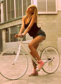 Girl in bike