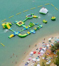 Inflatable Water Park....sounds SUPER dangerous but...its cute