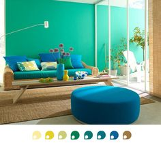 Color Scheme of The Week : Yellows, Greens and Blues