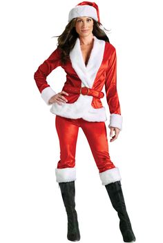Fun World Costumes Women's Ms.Santa Pant Set Adult Costume - Christmas Fashion, (adult holiday costumes for women) Holiday Costumes, Holiday Outfits, Adult Costumes, Costumes For Women, Costume Halloween, Santa Girl Costume, Santa Costumes, Female Costumes, Halloween Party