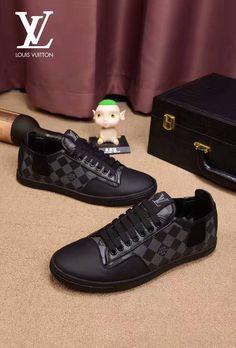 Louis Vuitton Mens Sneakers, Louis Vuitton Trainers, Lv Sneakers, Classic Sneakers, Black Louis Vuitton, Mens Designer Shoes, Jordans For Men, Gucci Shoes, Loafers Men