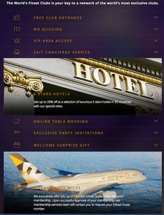 Etihad Clubbing Offer  Etihad Airways are offering up to 130000 bonus miles for joining a program that gives you special privileges at over 200 nightclubs around the world by joining the Worlds Finest Clubs.  The Worlds Finest Clubs is offering two types of membership if you want to earn bonus miles. Buy one of two membership levels on an annual basis:  A Premium Private membership costs 159EUR per month (1908EUR per year) and earns you 80000 bonus miles. A Premium Partners membership costs…