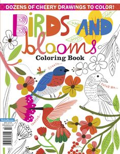 Shop Taste of Home - Birds & Blooms Coloring Book - Holiday Gifts - Side