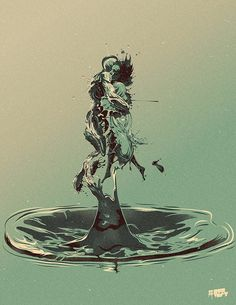 """The Shape of Water"" #LaFormaDelAgua #TheShapeOfWater #Movies #SallyHawkins #OctaviaSpencer #DougJones #MichaelShannon #GuillermoDelToro #Oscars2018 #BestPicture #Illustration #Ilustracion #VivaMexico"