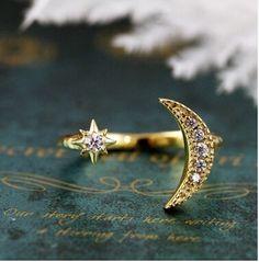 Timlee R066 SweetRhinestone Луна Звездные кольца Перста, fashon ювелирных изделий