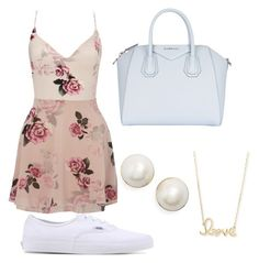 """""""A spring look"""" by maryoneal on Polyvore featuring Lipsy, Givenchy, Vans, Sydney Evan and Kate Spade"""